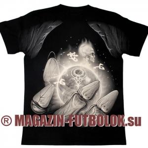3d футболка skull-red-eyes full print