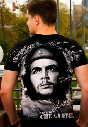 футболка че гевара черно-белый принт