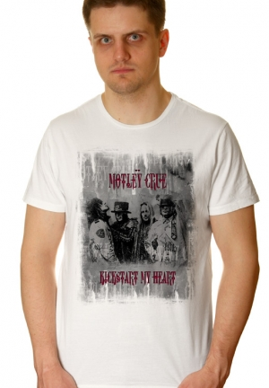 футболка motley crue kickstart my heart на заказ