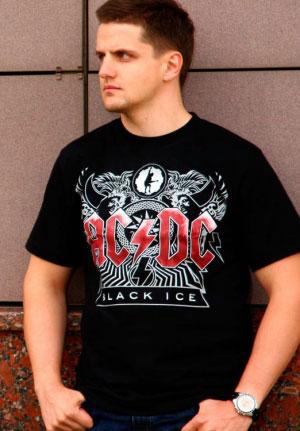 Футболка AC-DC Black Ice logo