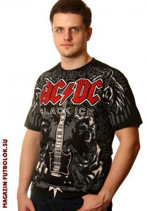 футболка ac dc black ice full-print