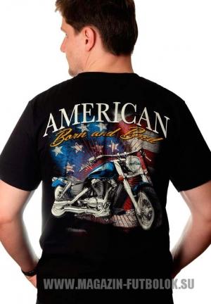 Байкерская футболка American