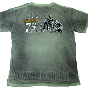 байкерская футболка die fast