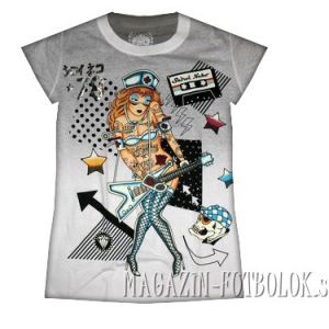 прикольная футболка для девушек guitar girl