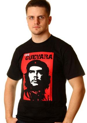 футболка che guevara на красном фоне