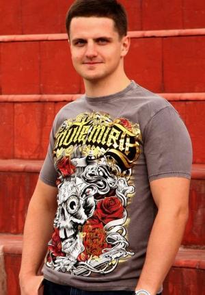 футболка skull-roses