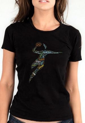футболка гандбол с цветным принтом