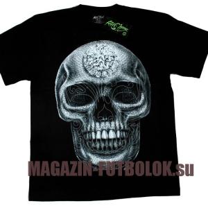 crystal skull - 3 д футболка с черепом