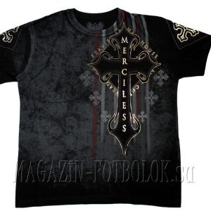 distorted — футболка с крестом  xzavier