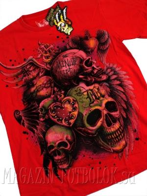 футболка 3 skulls (red)