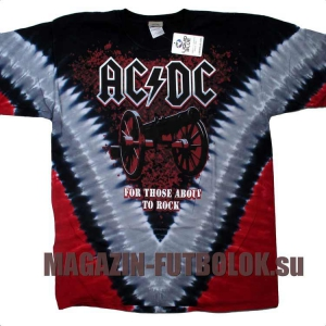 футболка ac/dc cannon v dye