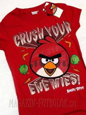 футболка angry birds girls crush enimies