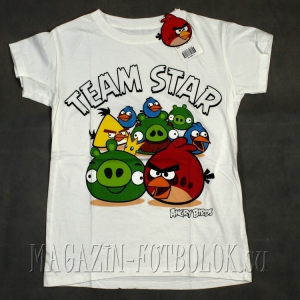 футболка angry birds team star