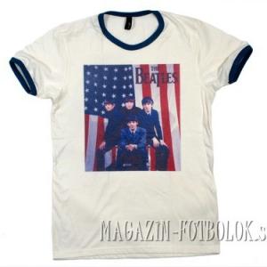 футболка beatles c американским флагом