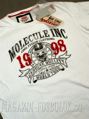 футболка biker skull molecule