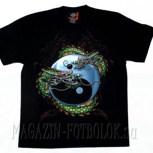 футболка дракон инь и янь