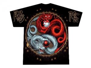 футболка дракон китайский инь и янь