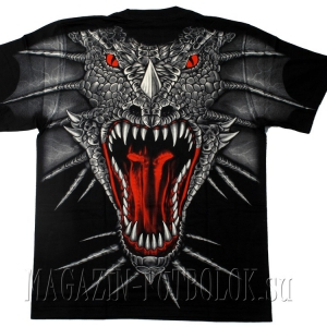 футболка дракон red eyes