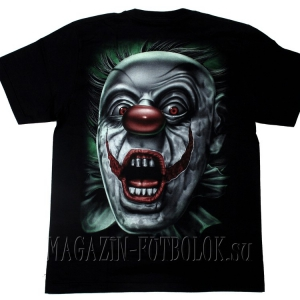 футболка evil clown scream
