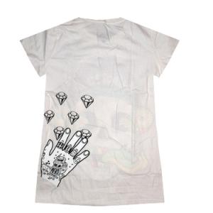 женская футболка с черепом shiroi neko skull