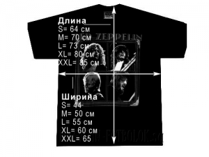 футболка led zeppelin jimmy page white