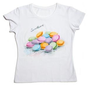 футболка macarons с авторским рисунком