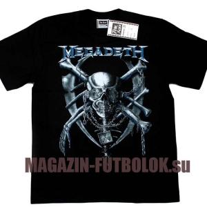 футболка megadeth metall skull
