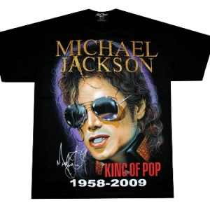 футболка michael jackson king of pop