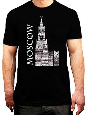 футболка с принтом москва
