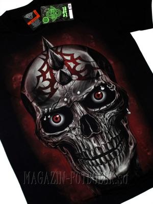 футболка с черепом 3d skull spikes