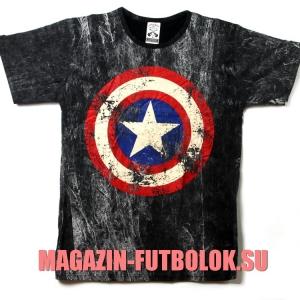 футболка с логотипом captain america