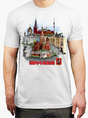 футболка с видами москвы