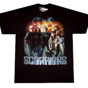 футболка scorpions с группой