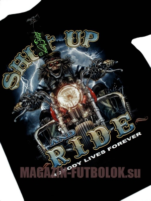 футболка shut up and ride color