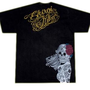 футболка скелет невесты с розой