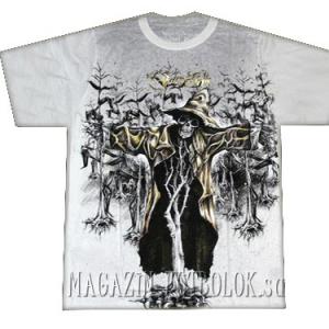 футболка скелет — пугало