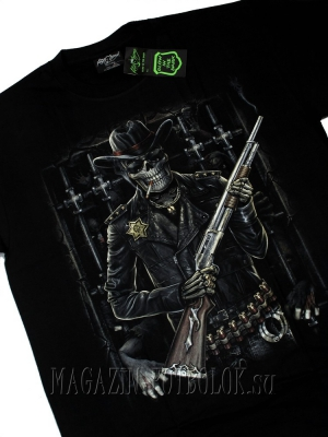 футболка skeleton sheriff