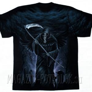 футболка смерть на кладбище