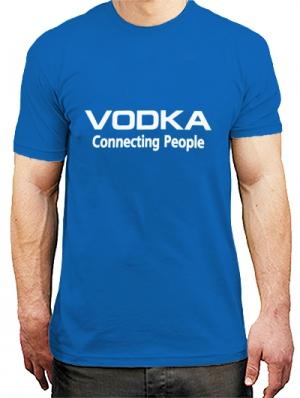 футболка водка соединяет людей
