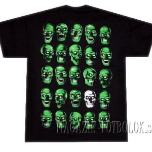 футболка зеленые черепа