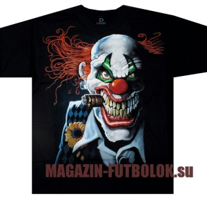 футболка с клоуном - joker clown