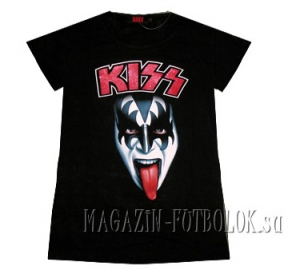 женская футболка kiss gene simmons