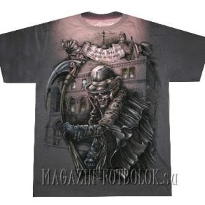 готическая футболка мертвец с косой