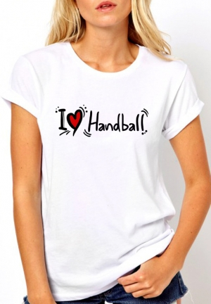 футболка i love handball