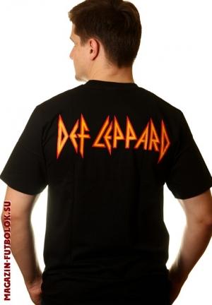 футболка def leppard pyromania