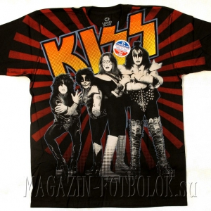 kiss live in japan - футболки с названиями групп