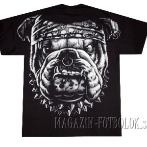 классная футболка байкерская buldog