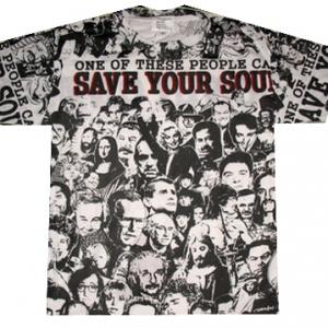 майки с изображением save your soul