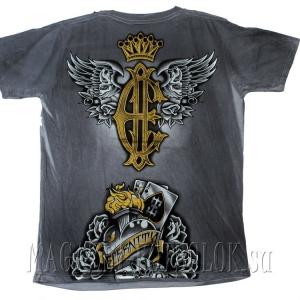 модная футболка 2 revolvers-wings