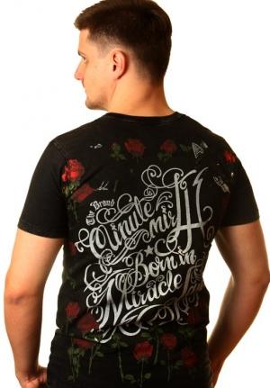 мужская модная майка монро с розами